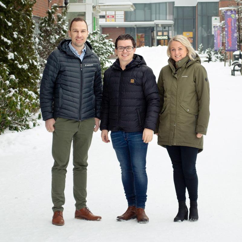 F.v. Anders Lysaker, Johannes Hoff Holmedahl og Helene Enderud Lie